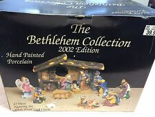 THE BETHLEHEM COLLECTION 12 PIECE NATIVITY SET W/WOOD LOOK CRECHE-2002