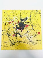 Acrylic Painting Abstract Canvas Yellow Wall Art Home Decor Decoration Artwork