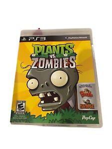 Plants vs. Zombies (Sony PlayStation 3, 2011) PS3 W/ Case No Manual