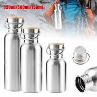 Stainless Steel Wide Mouth Sports Water Cup Outdoor Cycling Hiking Bottle CA