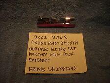 2002-2008 DODGE RAM DAKOTA DURANGO NITRO SLT EMBLEM FACTORY OEM FREE SHIPPING