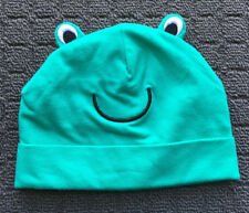 "BABY BERRY ""Green"" Cheeky Frog Novelty Stretch Baby Beanie Hat (3-6mths)"