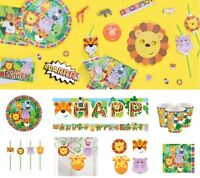 Zoo Jungle Animal Friends Birthday Party Decoration Plates Napkins Tablecover