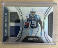 PARRIS CAMPBELL 2019 PANINI PRIZM SILVER PRIZMS ROOKIE GEAR RC WORN JERSEY COLTS