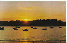 Devon Postcard - Sunset View of Appledore from Marine Hotel - Instow  Ref TZ1172