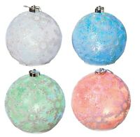 RC Moving Light Up Show Big Ball Large Christmas Snowflake Bulb Ornaments Set