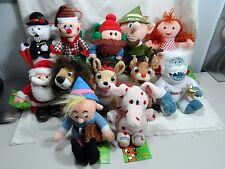 "2000 The Rudolph Co. 6"" Set of 12 Rudolph the Red Nosed Reindeer Clarice Charlie"