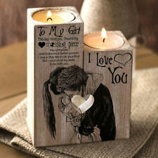 Heart-shaped Craft Wooden Candlestick Shelf Valentine's Day Decoration Gift US
