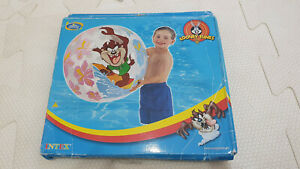 Inflatable Intex Looney Tunes Translucent Beach Ball Pool Toy New In Box