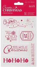 Papermania clear stamp set of 6 Create Christmas time words Love Ho Ho Be Merry