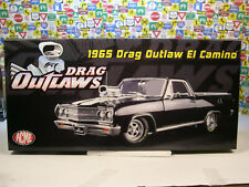 BLACK 1965 CHEVROLET EL CAMINO OUTLAW DRAG CAR ACME 1:18 SCALE DIECAST MODEL