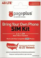 Page Plus 4G Lte All 3 Sizes Sim Card for Verizon 4G Lte phones!