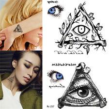 1 Blatt Körper Tattoo Aufkleber Sticker Wasserfest Temporär Augen Muster