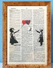 Banksy Balloon Girl Banksy Street Art dictionary page art print vintageP94