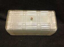 Vintage Frosted Glass Bathroom Vanity Light Lamp Shade Mid Century Modern