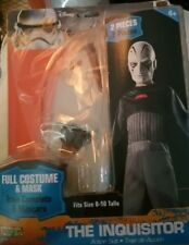 Costume Star Wars The Inquisitor Child action Suit Halloween NEW MED 8-10