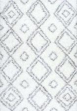 ALEAH MOROCCAN SHAG BEDROOM SOFT RUG 160x230CM WHITE NURSERY LIVING AREA SCANDI