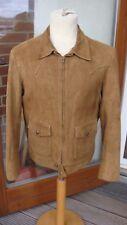 De colección chaqueta de vuelo en ante occidental Talla M 1960s 1970s Hedi Skinny Bomber