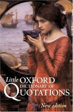 New, Little Oxford Dictionary of Quotations, , Book
