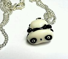 Tara Panda Colgante Collar De Plata Chapado En Cadena De 18 Pulgadas Kawaii