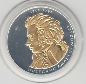 10 €  Goldapplikation - teilvergoldet   Mozart  2006