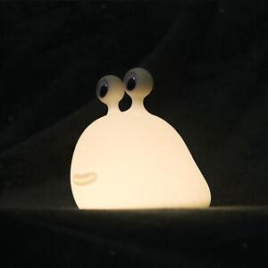 Cute Slug Touch Sensor LED Night Light Dimmable Desk Lamp USB Rechargeable