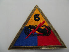 ^ (a4-100) US TANK TROUPE 7th ARMORED écusson patch Coloré WWII Type