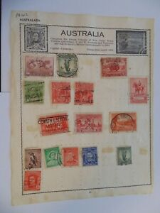 PA 412 - Page Of Mixed Australia Stamps