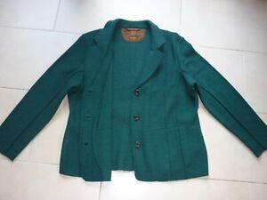 Damenjacke gewalkt, Clarina Gr 48, dunkelgrün, 100 reine Wolle, ohne Futterstoff