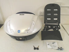Piaggio MP3 Hybrid 48 Litre Top Box Case Kit Pearl White Blue New RRP £370.99!!