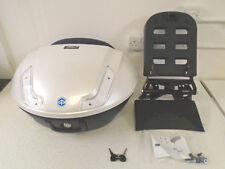 PIAGGIO MP3 híbrido 48 litros Top Box Kit De La Caja Azul Blanco Perla Nuevo PVP £ 370.99!