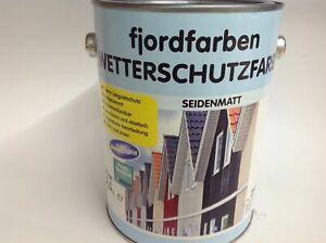 2,5 Liter Wilckens fjordfarben Wetterschutzfarbe Silbergrau RAL 7001