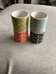 Orla Kiely Set Of Four Egg Cups