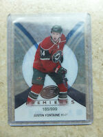 13-14 UD ICE Premieres Rookie RC #58 JUSTIN FONTAINE /999