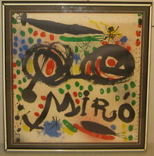 1966 'JOAN MIRO Graphics - Philadelphia Museum of Art' Poster - Trimmed image