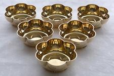 Set of six silver gilt fruit dessert bowls, Sheffield 1933, from Finnigans