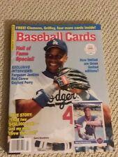Vintage Baseball Cards Magazine 1991 July  Darryl Strawberry Inserts Griffey