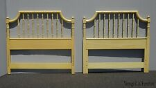 Vintage French Country Yellow Twin Headboards Bed Frames by Thomasville