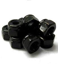 L1242 1/10 Escala Modelo RC M4 métrica de acero 4mm Negro Tuerca De Bloqueo De Rueda De Nylon 10 X