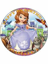 "Sophia Sofia The First-Design 1 personalizzato 7.5"" CERCHIO GLASSA cake topper"
