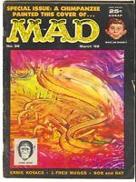Mad Magazine 38 1958 VG Wally Wood Alphabet Book Sports Cars Monkey Paint