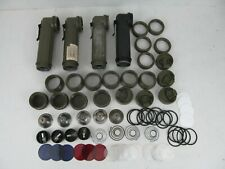 Fulton Flashlight MX-991/U US Military LOT Military Flashlights with extra parts