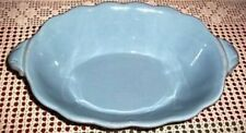 Longaberger Pottery Vintage Vine Blue Oval Serving Bowl Dish