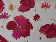 "Floral Pink/ Red Curtain Fabric 54"" - 135cm  Wide - £9.99 per metre"