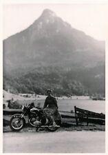Original Foto 50iger Jahre Oldtimer Motorrad Steyr Puch Maiden Girl Mädchen