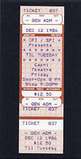 1986 til tuesday unbenutzt full concert ticket voices carry aimee mann