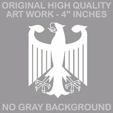 """German Flag Coat of Arms Eagle Germany Vinyl Decal Sticker 4"""" Inches Long Cut"""