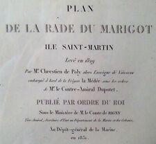 1831 Marigot Collectivité de Saint-Martin French West Indies Antique Map