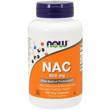 Now Foods NAC - 100 - 600mg Vcaps - Antioxidant Amino Acid with Minerals