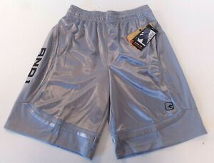 New And1 Mens Basketball Gym Workout Shorts Adjustable Waist S M L XL 3XL Grey